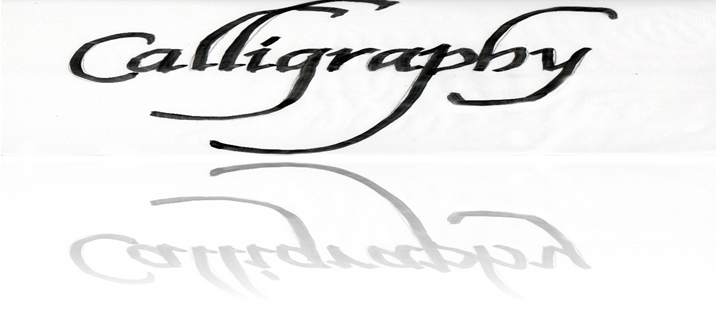 Calligraphy reflection copy