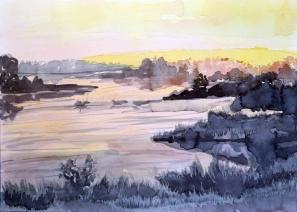 Dawn Breaking over the Wetlands
