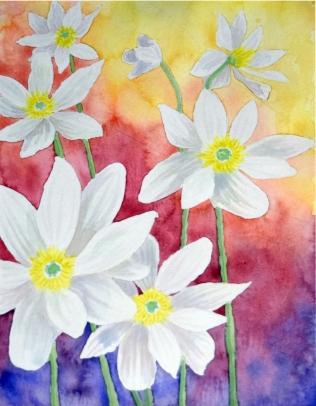 Gradient floral w white bloodwort