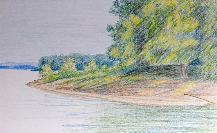 Riverbank finished drawing